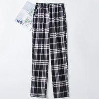 Men's Sleepwear Men Plaid Pajama Pants Sleep Bottoms Casual Home Trousers Soft Thin 100% Cotton Pajamas Plus Size 4XL