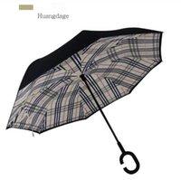 NewReverse Gestione ombrello Stampa FIMBRIA Antivento Avvolgibile Protezione solare Protezione da pioggia Ombrelloni Piegatura a doppio strato invertito EWB6912