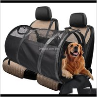 Dog Supplies Home & Garden Drop Delivery 2021 Pet Bag Foldable Car Pad Back Seat Tent Breathable Waterproof Carrier For Mdium And Large Dogs