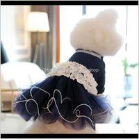 Apparel Supplies Home & Gardenprincess Dog Cat Wedding Dress Tutu Double Lace Design Pet Puppy Skirt Party Clothes Outfit 6 Sizes 2 Colours