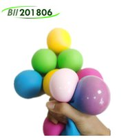 TRP Squish Squeeze Stressball Balloon Toys Rainbow Push Anxiety Stress Relief Autism Fidget Jelly Squishy Squeezy Decompression Balls