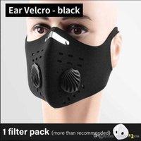 Stilvolle wiederverwendbare Schutzmaske mit Luftventil und atmungsaktivem schwarz aktiviertem Kohlefilter-Mund-Außendruck-Staubmaske
