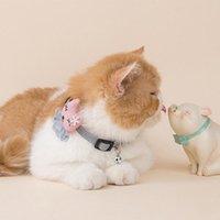 Кружева цветочные кошек воротник милый мода янпанский корейский стиль Streetwear Щенок ожерелья животных поставляет мультфильм котенок аксессуары костюмы