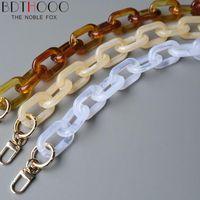 Accesorios de las piezas de la bolsa 10 unids 46 cm 86 cm 120 cm de las mujeres de la cadena de reemplazo desmontable de las mujeres Cinturón de lujo de la resina de lujo Hombro de acrílico