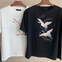 Mode männer frauen tshirts schwarz weiß gedruckt t shirts o neck kurze sleeve paar tees hip hop straßenbekleidung kausal sommer tshirt