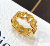 Moda Altın Mektup Aşk Yüzük Bague Bayan Kadınlar için Parti Düğün Levers Hediye Nişan Takı Kutusu Ile