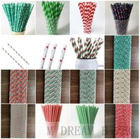 Eco Friendly Paper Straw Disposable Straw Biodegradable Paper Party Drinking Straws Wholesale 25 Pcs a Lot