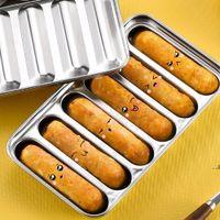 Outils de cuisine Saucisse Moule Moule 6 grilles Acier inoxydable DIY Ham Hot Dog Make Saucisses Ménage Cake Cake Baking Tool Moules EWF9095
