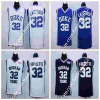 NCAA Duke Blue Devils 32 Christian Laettner 4 셔츠 유니폼 1992 USA 드림 팀 패션 32 Jimmer Fredette Team Color Navy Blue White