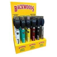 Cookies Backwoods Law Twist Preheat VV Battery 900mAh Bottom Voltage Adjustable Usb Charger Vape Pen 30 Pcs with Display Box ego