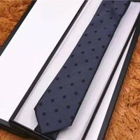 2021 Новые мужские галстуки 8,0 см Silk шеи галстуки плед полосатые галстуки для мужчин формальные деловые свадьбы партии Граваты с коробкой