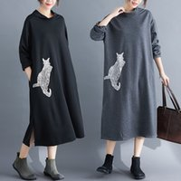 dresses 2021 spring and autumn leisure slim embroidered knitting medium length long sleeve bottomed women's wear