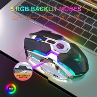 Mice 2.4G Wireless Rechargeable Gaming Mechanical Mouse RGB Backlit USB Built-in Battery Is Suitable For Laptops