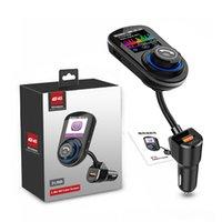 سيارة بلوتوث FM الارسال يدوي كيت QC 3.0 شاحن سريع لاسلكي راديو الصوت استقبال مشغل MP3 دعم TF بطاقة يو القرص