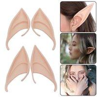 Misterioso ángel elfos orejas látex orejas para hadas accesorios de disfraces de cosplay de hadas Decoración de Halloween Apoyos de fotos para niños Juguetes para niños Y0909