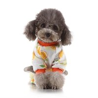 Dog Apparel Cute Orange Pet 4 Legged Pajamas Casual Homewear Cotton Outfit Puppy All Seasons Jumpsuit For Clothes
