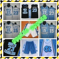 Unc Jersey, North Carolina # 15 Vince Carter Azul Branco Costurado NCAA College Basketball Jerseys, Bordado Logos