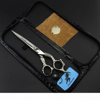 with leather case Freelander 7.0 inch 440C 62HRC TB-71 cutting scissors with Sheep head on scissors handle