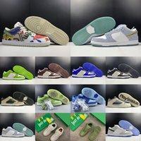 [Bracelet+Socks+Original Box] Cactus Plant Flea Market x Nike SB Dunk Low SP'City Market' dunk series low-top casual sports skateboard shoes