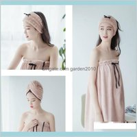 Towel Home Textiles & Garden 3Pcs Set Wearable Bath Skirt + Dry Hair Hat Band Sexy Soft Beach Shower Swimming Drop Delivery 2021 Iwfyj