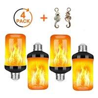 Bulbs 4pcs E27 Emulation Flame Bulb Lamp Dynamic Light LED Fire Effect Flickering For Garden Bar Party Wedding Decor