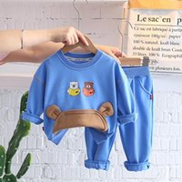 Clothing Sets HYLKIDHUOSE Autumn Baby Girls Boys Kids Cotton Cartoon Bear T Shirt Pants Infant Clothes Outfit Child Sportswear