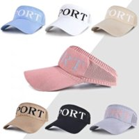 High Quality Fashion Summer Empty Top Caps Letter Outdoor Sun Protection Hats for Women Girl Pure Color Trendy All-match Casual Hats