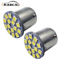 4 stks BA15S 1156 Amber LED P21W 6 V Auto Draai Reverse Achterlicht 3030SMD Motor Signaal Lamp Niet-Polariteit Wit 360LM Noodverlichting