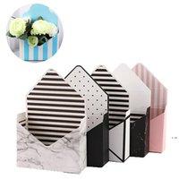 Caja de flores de sobre creativo Blanco Cartulina Plegable Jabón de rosa Flor Caja de regalo Día de San Valentín Regalo Arreglo de flores Caja de papel HWA466