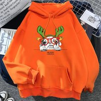 Women's Hoodies & Sweatshirts Red Glasses Frame Dog Merry Christmas Hooded Female Fashion Soft Hoodie Autumn Oversize Loose Casual Warm Stre