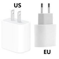 Chargeur de sécurité rapide de PD 20W 18W pour iPhone 12 11 logo original UE / US Plug USB-C Type-C Port Home Home Charging Adaptateur Chargeurs rapides Pas de détail Bo