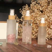 Storage Bottles & Jars 70pcs 150ml Cosmetics Packaging Bamboo Frosted Continuous Perfume Face Glass Mist Spray Bottle Luxury Cream
