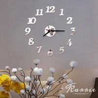 Wall Clocks One Set DIY Creative Digital Acrylic Clock Frameless Mirror Stickers Modern Art Decal Home Decor 40cm