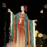 Stage Wear Chinese Donna Antico Tradizionale Elegante Hanfu Dress Fairy Ricamo Flok Dance Costumes Costumi retrò Tang Suit Vestiti femminili