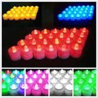 24 adet LED Elektronik Mum Yedi Renkli Doğum Günü Lambası Alevsiz Noel Işıkları Dekorasyon Sarı Sıcak Beyaz Mumlar ZWL644