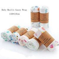 حمام الطفل منشفة الرضع الشاش الشاش التفاف Swaddling القماش غطاء الكرتون المطبوعة بطانية AHC7406