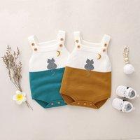 Otoño primavera bebé niños mameluco bebé bebé niñas usarse lindo gato hecho punto mono lana ropa bebé mameluco infantil niños abrigo 882 v2