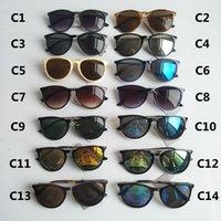 نظارات شمسية موضة للرجال نساء نظارات مصمم نظارات الشمس مات ليوبارد التدرج uv400 عدسات 14 اللون