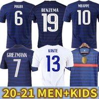 2021euroo Soccer Benzema Grizmann Mbappe فرنسا Soccer Jersey Kante 20 21 Centenario Pogba Shirt 2020 Giroud Matuidi Ndombele Thauvin Anniversary Men + Kids Kit