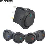 스마트 홈 컨트롤 5pcs SPST 스위치 12V LED 로커 도트 라이트 3 핀 ON-OFF 조명 자동차 대시 보드 대시 보트 토글