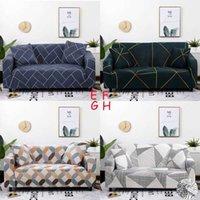 Novo padrão geométrico sofá multi-estilo capa 3d impressão digital sala de estar elástica decoração de casa montagem home têxteis