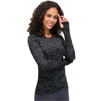 Abbigliamento femminile Top T-shirt T-shirt Autunno Donne T-shirt manica lunga in esecuzione in modo rapido Tecnologia Top Sport Traspirante Fitness Yoga Vestiti
