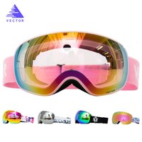 Magnets OTG Ski Goggles Snowboard Anti-fog Snow Glasses Interchangeable Spherical Lenses Skiing Men Women 201022