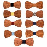 Newhandmade мужские галстуки мужские DIY резьба деревянные луки узла урок регулировки моды свадебный подарок 9 цветов EWA6475