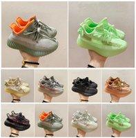 Ragazzi Ragazze Bambini Scarpe da corsa Designer Infant Kanye Trainer Fashion Black Green Green Pink Atletic Sneakers per bambini