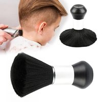Hair Brushes Professional Soft Black Neck Face Duster Barber Clean Hairbrush Salon Cutting Hairdressing Styling Makeup Tool 1PC