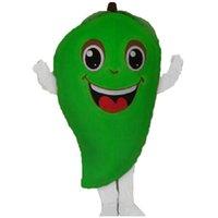 Halloween grön mango maskot kostym toppkvalitet tecknad gullig frukt anime tema tecken vuxna storlek jul födelsedagsfest utomhus outfit