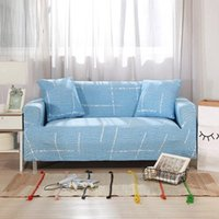 Chair Covers Blue Geometry Elastic Stretch Universal Sofa Sectional Throw Couch Corner Cover Cases For Furniture Armchairs Home Decor