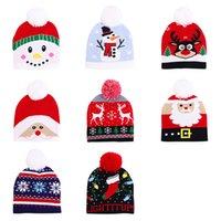 Fashion Winter Christmas Baby Knitted Cap Warm Beanie Kids Hat With Ball Cute New Year Decor Christmas Cap Gift Snowman Turban