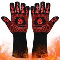 BBQ Oven Gloves Heat Resistant Cooking Baking Mitt Barbecue Kitchen Tools